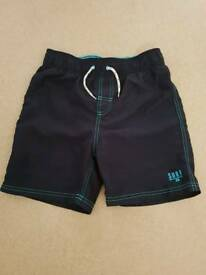Boys Age 9-10yrs Navy Surf Swim Shorts