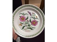 8inch side plates Portmeirion Botanical Gardens x 4
