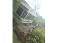 Willerby Shrewsbury Static caravan, sited in Machynlleth, mid Wales - with outstanding views
