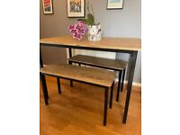 Argos metal and wood effect tables