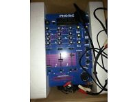 Phonic DM3025 Pre-Amp Mixer, 4 input, both control, sampler, with cables, in original box