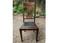Six Arts & Crafts chairs in original condition
