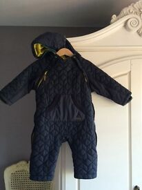 Boys ted baker quilted snow suit age 9-12 months