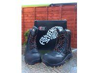 V12 Footwear E1300 Defiant Black High Leg Zip Safety Boots