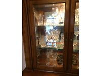 Display cabinet for sale - hand crafted solid wood. Excellent condition