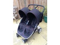 Double britax B-AGILE pushchair
