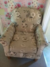 Next armchair /chair floral shabby chic style