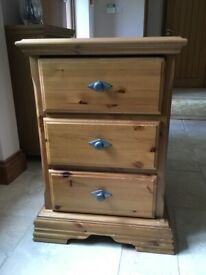 Bedside drawers, pine