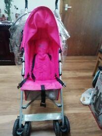 O Baby tinker pink stroller