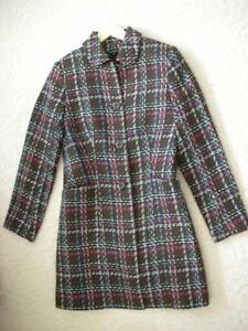 Women's Brown Pink Blue White Plaid Dress Coat Jacket!! Windsor Region Ontario image 1