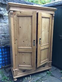 Lovely old pine wardrobe for sale £100