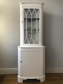 Decorative corner glass cabinet