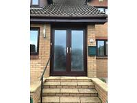 Double glazed entrance doors/french doors and side window