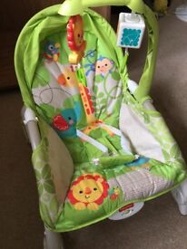 Baby to toddler vibrating rocking chair