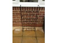 Metal Wine bottle holder, two pieces stackable