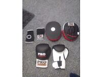 Pro boxing pads and gloves