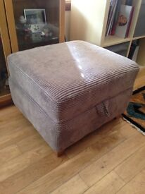 Brown/mink coloured ottoman
