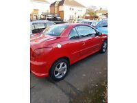 03 1.6 peugeot 206cc convertible very clean sell/swap/p/ex nice present for xmas