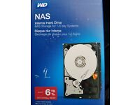 WD Red 6TB NAS Desktop Hard Disk Drive - Intellipower SATA 6 Gb/s 64MB Cache 3.5 Inch