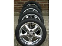 Polished alloys for Mazda MX5 good tyres and wheel nuts