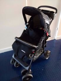 pram stroller baby hawk cupholder, lock, foldable