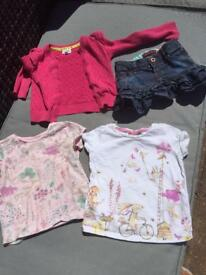 Girls Ted Baker skirt, 2 t-shirts & cardigan age 12-18months