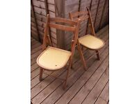 two folding chairs ideal for small kitchen garden