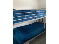 Grey Metal Frame Bunk Bed