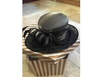 Beautiful Black & Silver Grey Hat (NEW) - Hat Box Included