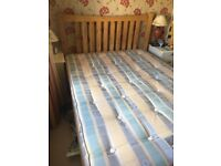 Pine double bed with or without mattress