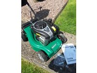 Qualcast petrol mower and strimmer