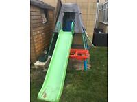 Climbing frame & slide £35