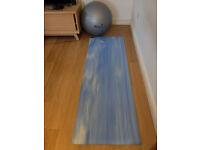 Yoga mat and swiss ball
