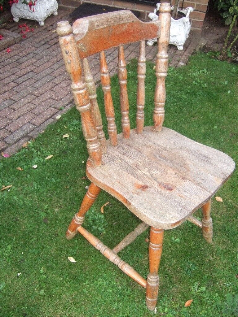 SOLID WOOD FARMHOUSE KITCHEN CHAIR ~ shabby chic project