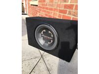 12 inch Pioneer subwoofer with sealed enclosure no amplifier