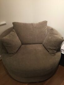 Grey swivel sofa chair from Next