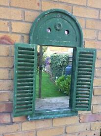 Garden decorative mirror