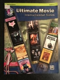 Ultimate Movie Instrumental Solos book for Alto Saxophone Level 2-3