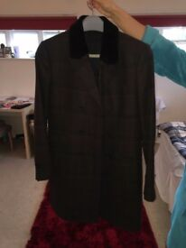 Kooples Double Breasted Wool Overcoat