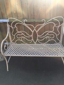 Beautiful butterfly garden bench