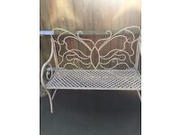 Beautiful butterfly garden bench