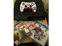 Ps3 160gb with controller and 3 games