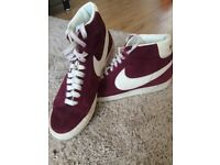 Nike Blazer High-Top in Maroon - Great Condition