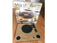 ION Max LP Turnatable with Stereo Speakers