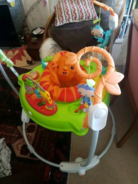 3fe0c2c51e55 Fisher Price Rainforest Baby Bouncer Jumperoo - Excellent Condition New  Design