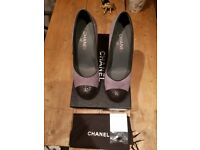 Nearly New Chanel grey Suede Shoes size 6