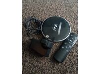Android tv box with remote.