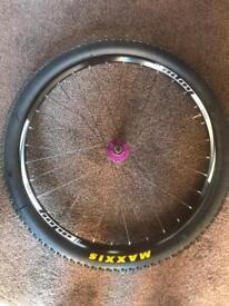 Hope enduro rear wheel with purple hope pro 4 hub 27.5 650b