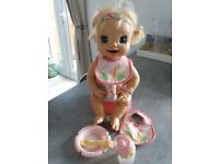 Baby alive interactive doll.