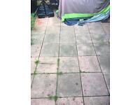Pink garden slabs - FREE